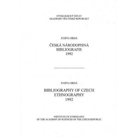 Česká národopisná bibliografie 1992